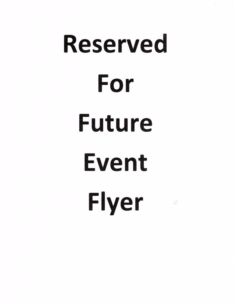 Reserved Flyer