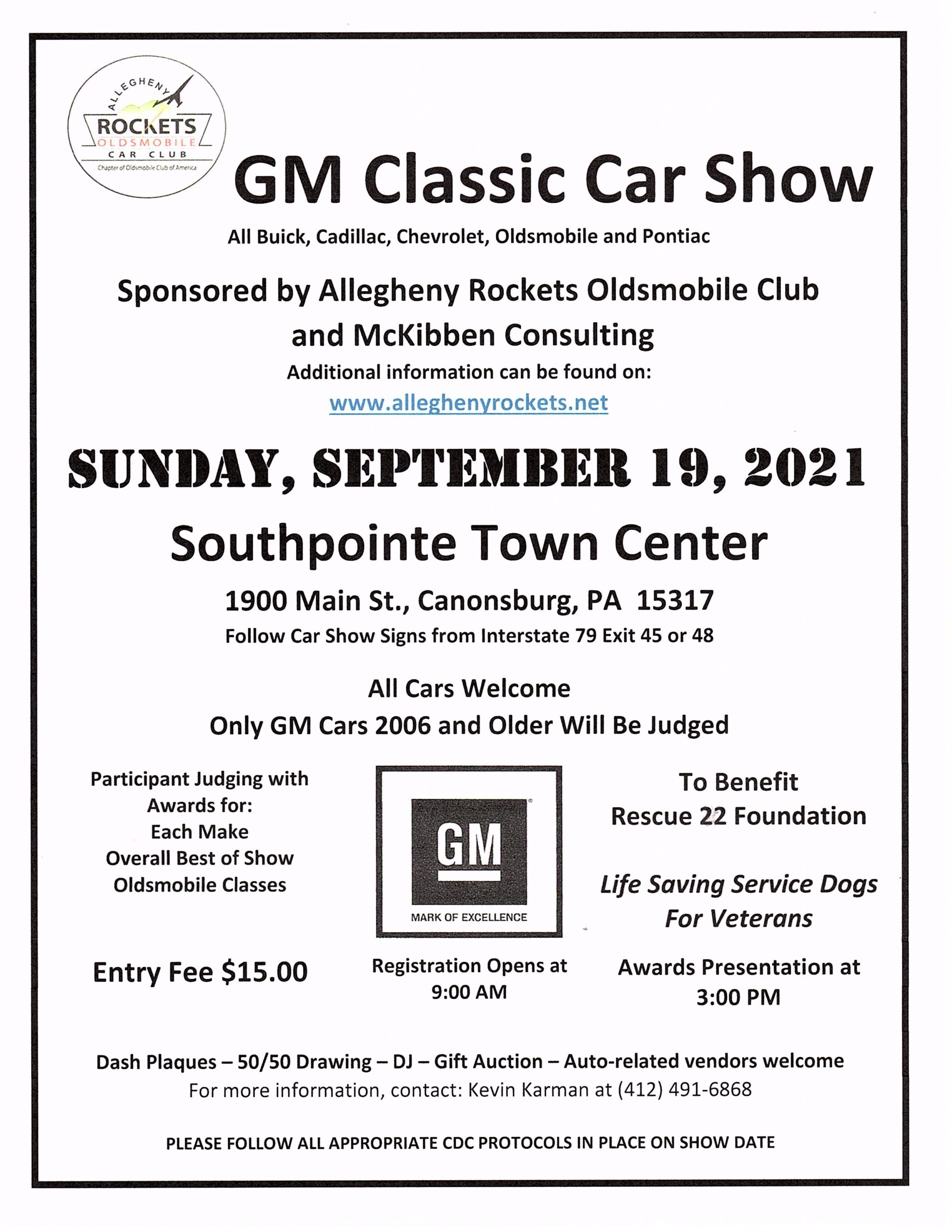 2021 Fall GM Show Flyer